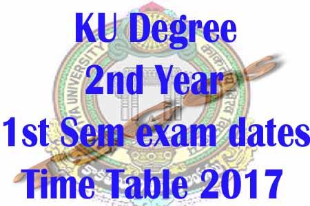 ku degree 2nd year 1st sem exam dates 2017-2018