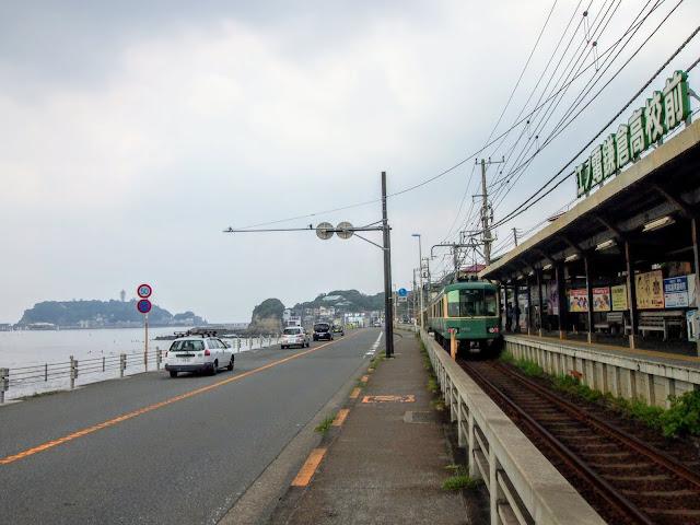 国道134号 鎌倉高校前駅 江ノ電