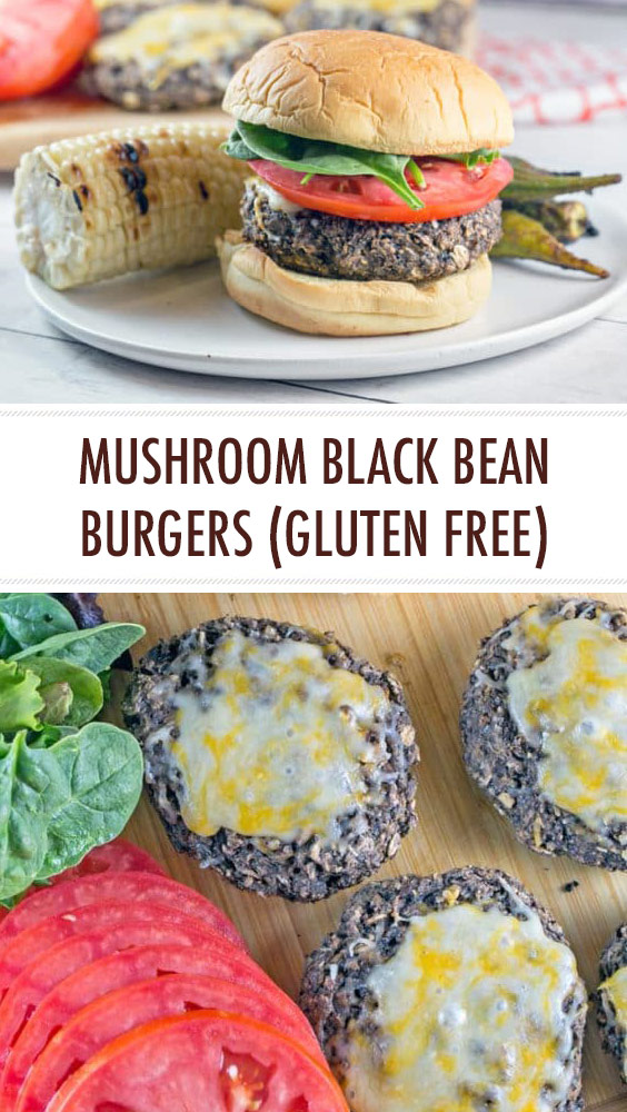 Mushroom Black Bean Burgers (Gluten Free)