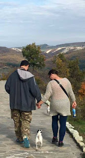 Walking down the hill together