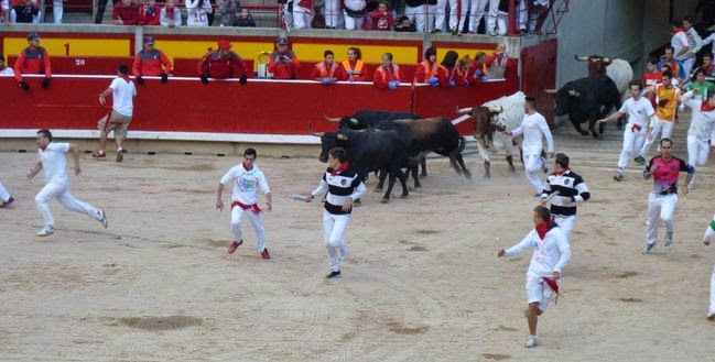 Plaza de toros de Pamplona en San Fermín.