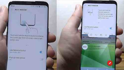 Mengaktifkan Multi Windows samsung S8 / S8+