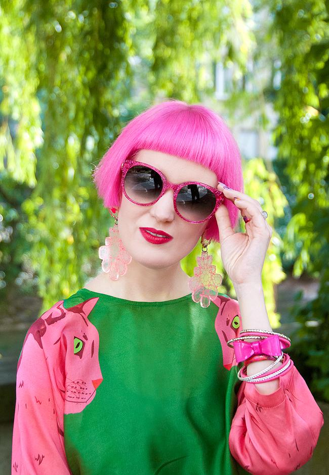swiss fashionblogger, pink hair, Cléo Ferin Mercury
