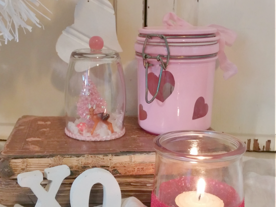 Cute Valentine's Day Decor With Recycled Jars!