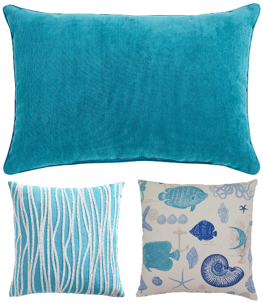 Blue Coastal Living Pillow Ideas