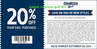 free OshKosh B'gosh coupons for april 2017