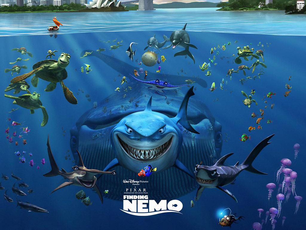 Finding Nemo Disney Walt Disney Movies Fish Animation: 3D Cartoon Wallpapers HD