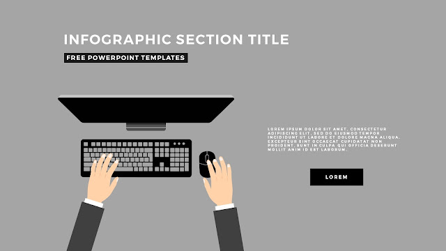 Flat Design Infographic Elements with Section Title for PowerPoint Template Slide 5