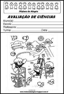 Capa para avaliação de ciências