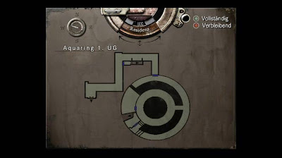 Location Map, Aqua Ring 1.UG, Resident Evil, HD Remaster, Jill Valentine