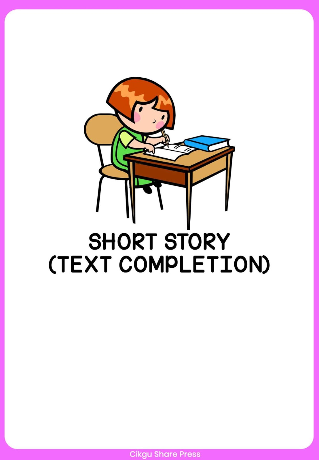 Short Story Text Completion