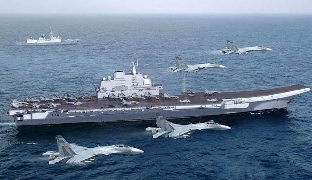 CINA Kerahkan Armada TEMPUR Udara Dan Laut Klaim Natuna, Indonesia Makin Gawat Darurat !!