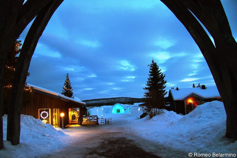 Entering the ICEHOTEL Sweden