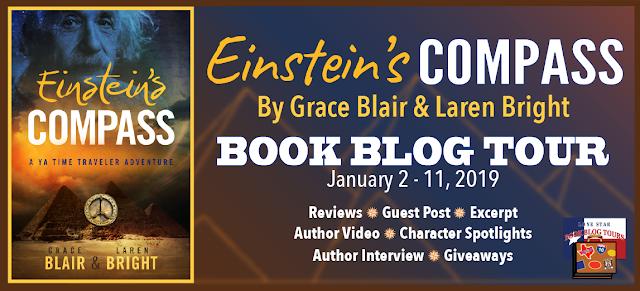 Einstein's Compass book blog tour promotion banner