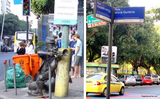 Estátua do Corneteiro Lopes, heróis da Independência da Bahia, em Ipanema, Rio de Janeiro