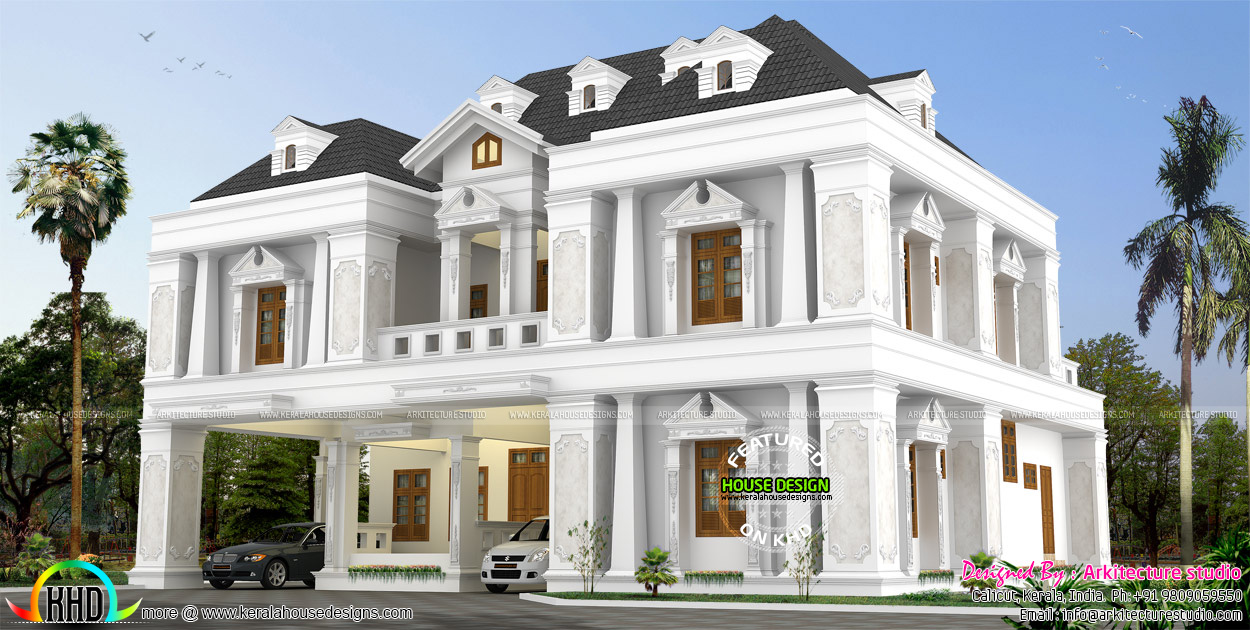 4 bedroom 4500 sq ft house kerala home design and floor for 4500 sq ft home
