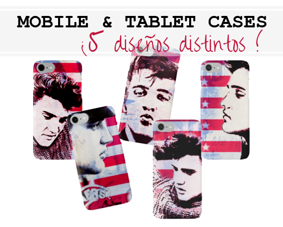pop art style Elvis Presley mobile and tablet cases at RedBubble