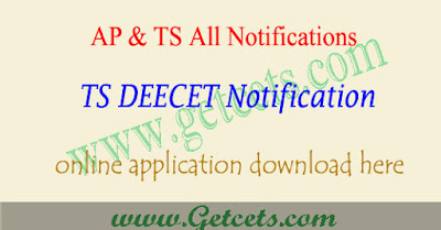 TS DEECET 2020 notification, Telangana dietcet application form 2020