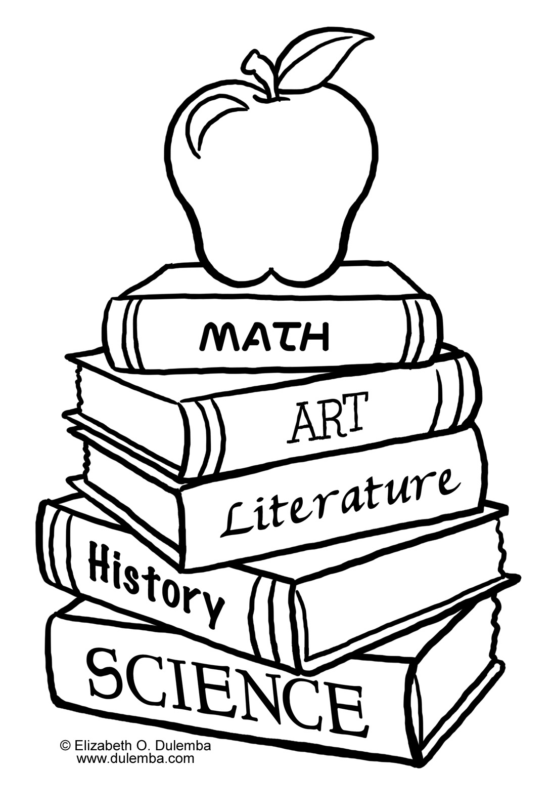 Back to school is no longer tough for Book coloring page