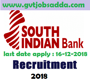 South Indian Bank Recruitment 2018 apply online