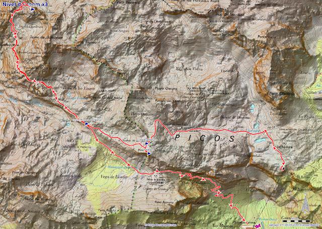 Ruta Palanca desde El Cable a Fuente De: Mapa de la ruta