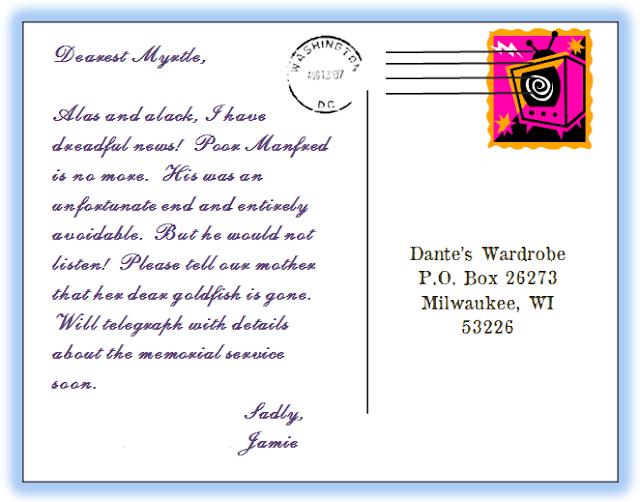 write a postcard you will never send
