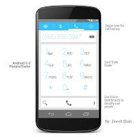 Desain Tampilan Android 5.x Terbaru Resmi Key Lime Pie