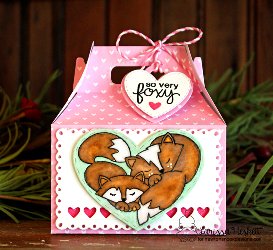Fox Treat Box by Larissa Heskett | Woodland Duos stamp set by Newton's Nook Designs #newtonsnook