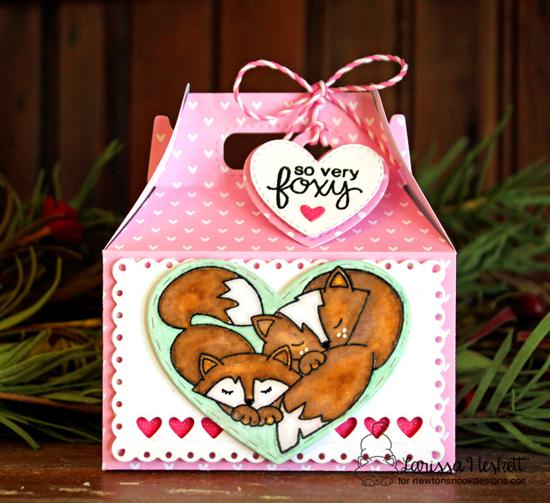 Fox Treat Box by Larissa Heskett | Woodland Duos stamp set by Newton's Nook Designs #newtonsnook