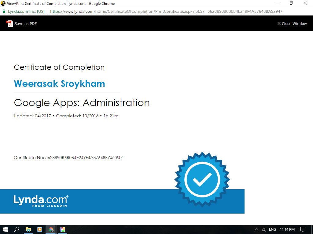 Weerasak Sroykham Learning Experience Blog Google Apps