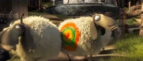 Picture of sheep in opening scenes from How to Train Your Dragon 2