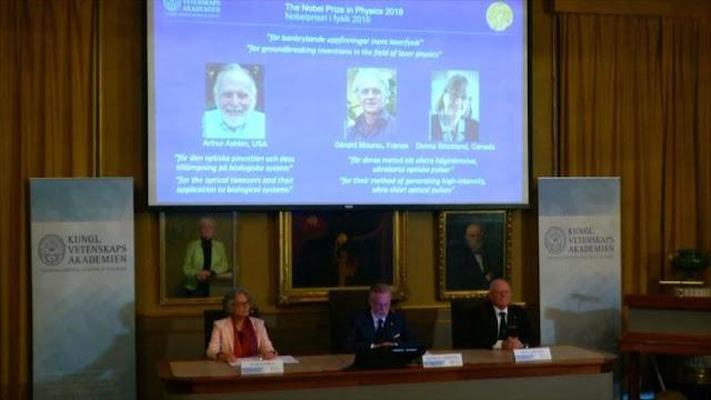 Nobel de Física para 3 científicos de EEUU, Francia y Canadá
