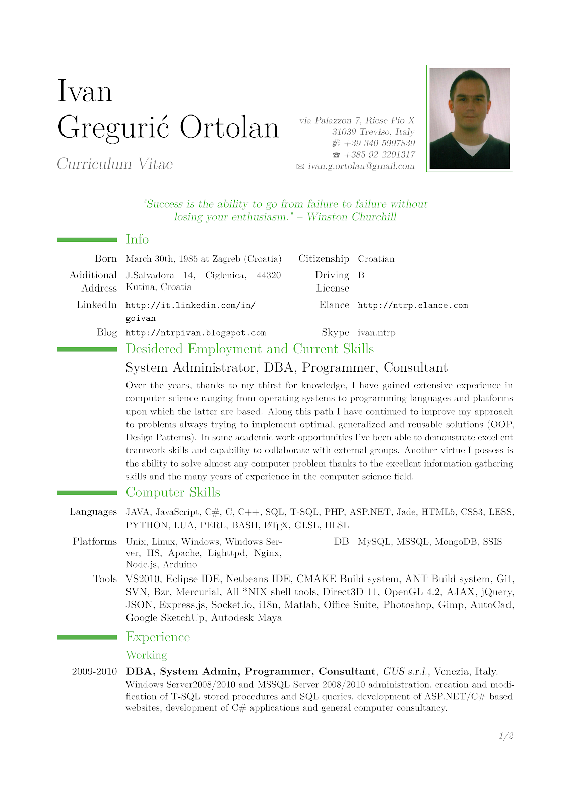 english cv example pdf sample cv in english helsinkifi ntrp tech talk latex cv template based