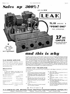 Vintage Audio Workshop: Leak TL10 Amplifier Advert