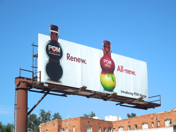 Pom Mango Renew All-new billboard