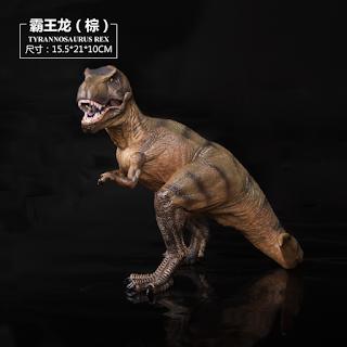 Jurassic World Dinosaur Figure Tyrannosaurus T-Rex Toys 16cm with Moveable Jaw