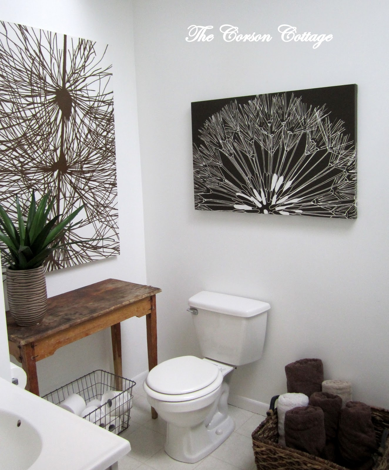 Modern cottage bathroom - Submitted By The Corson Cottage