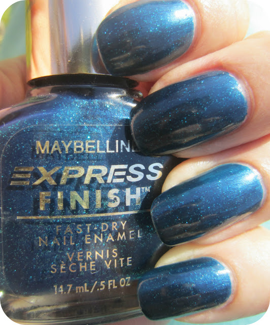 L B K Nail Lacquers Are Unique And Beautiful Giveaway: Concrete And Nail Polish: Maybelline New Year's Blues