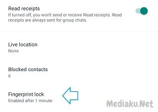 Fingerprint WhatsApp Tidak Muncul