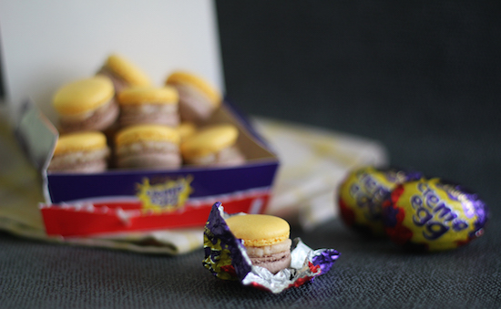Creme egg macaroon recipes