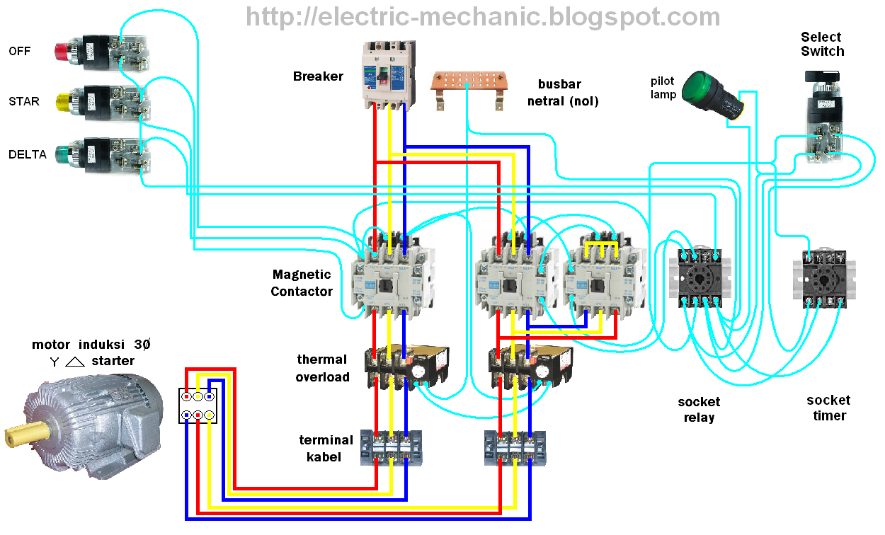 medium resolution of star delta panel wiring diagram wiring library low voltage motor diagram foto gambar penyambungan rangkaian star