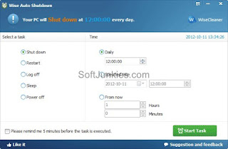 Wise Auto Shutdown Free Download – Automatically Shut down Your computer with Wise Auto Shutdown