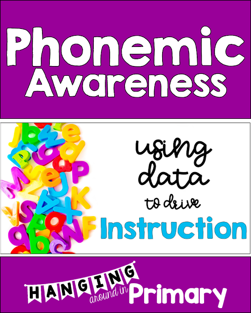 Learn how to use data to drive your phonemic awareness instruction. First assess with a free screening tool and then use a no prep, fully scripted, easy to use resource: Phonemic Awareness in 5 Minutes Word Lists to teach the identified skills.
