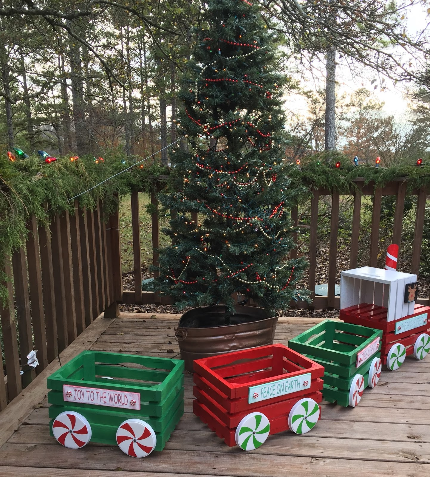 Me And My Crafties: Little Christmas Crate Train