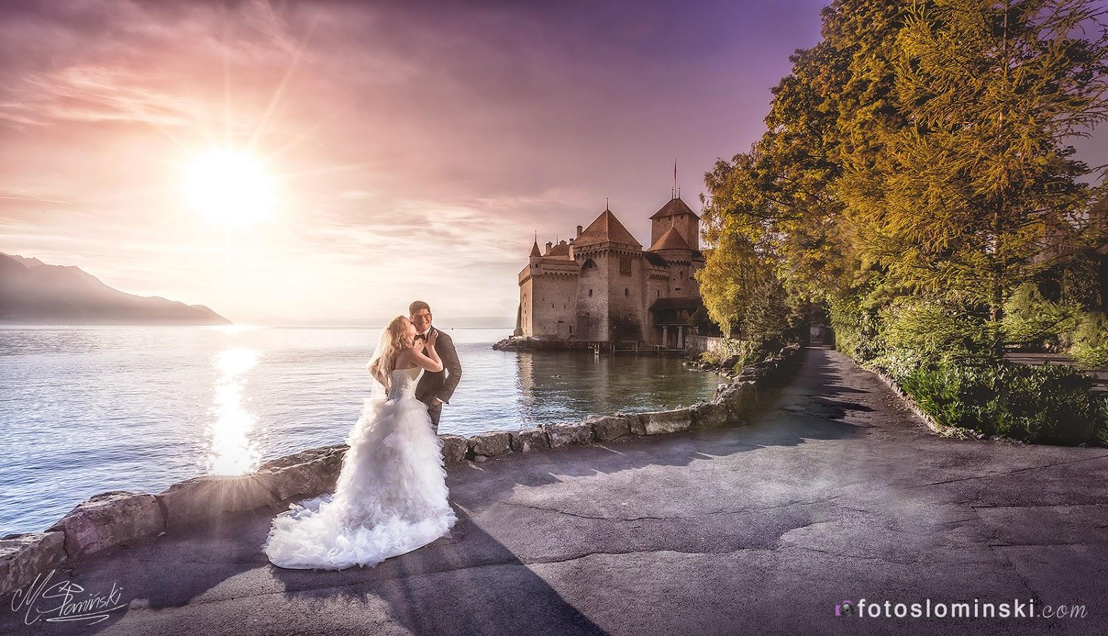 3 najlepsze zdjęcia ślubne na zamku Château de Chillon w Szwajcarii. Fotografia ślubna (Fotograf Słomiński Wrocław).