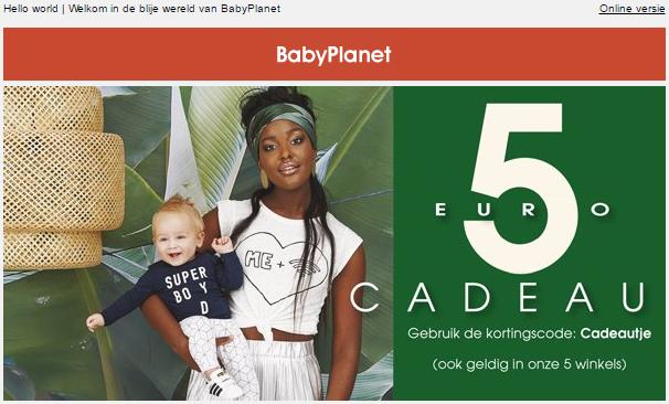 Kortingscode BabyPlanet