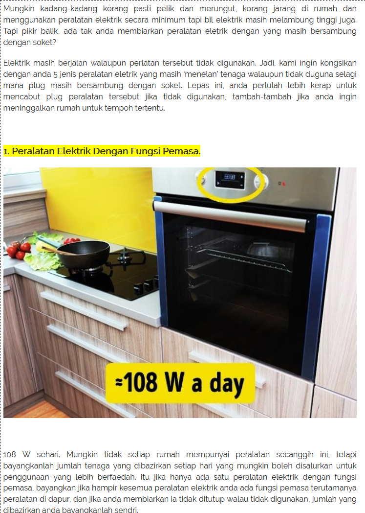 Alatan Elektrik Di Dapur Desainrumahid