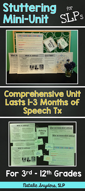Stuttering / Fluency Mini Unit for Speech Language Therapy