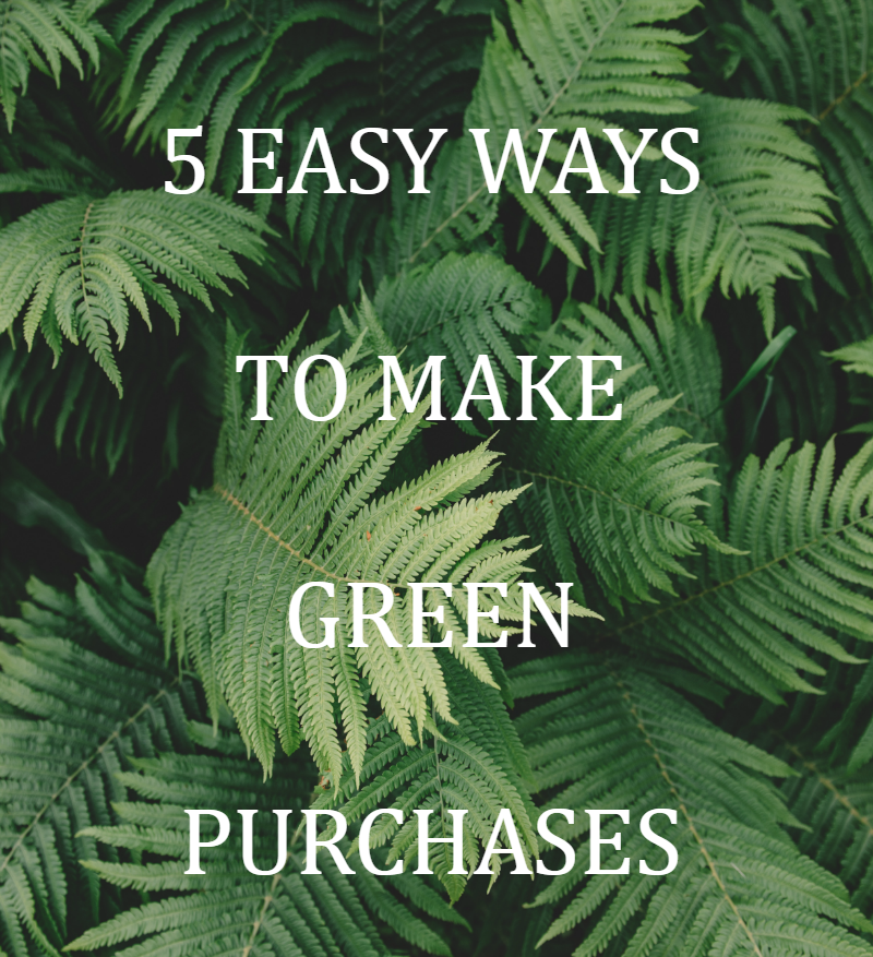 Wondering how to make greener purchases? Buying green doesn't have to be complicated. These 5 easy ways help you to make greener purchases.