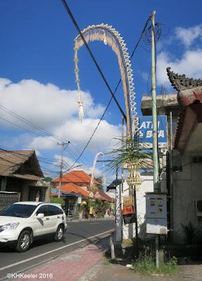 Galungan decorations, Ubud, Bali